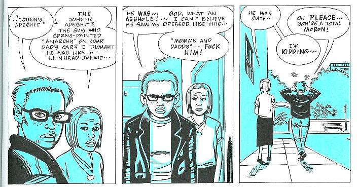 """ghost world daniel clowes essay In daniel clowes' hilarious and, at times, heartwrenching graphic novel """"ghost world"""", two teenage girls blaze a path of sarcasm and biting language directed at themselves, each other, and the various people they interact with throughout the story."""